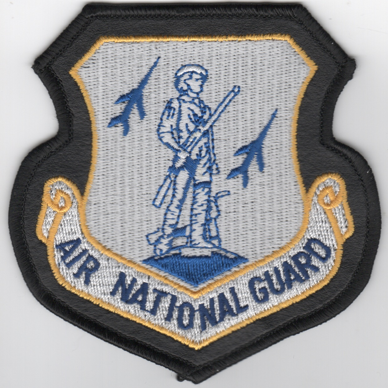Air National Guard Crest (White/Large/LX Border)