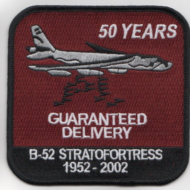 B-52 '50-YEARS' Patch (Red)