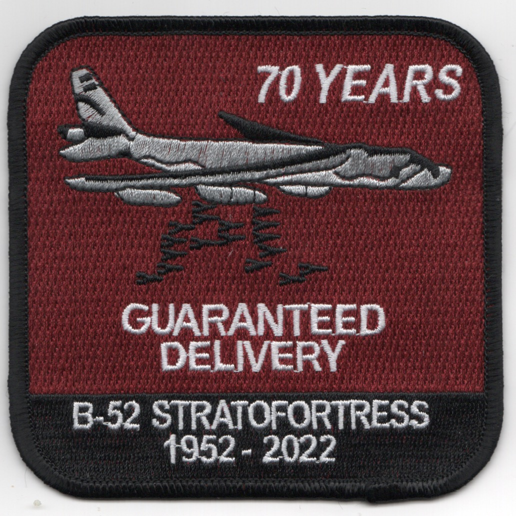 B-52 '70-YEARS' Patch (Red)