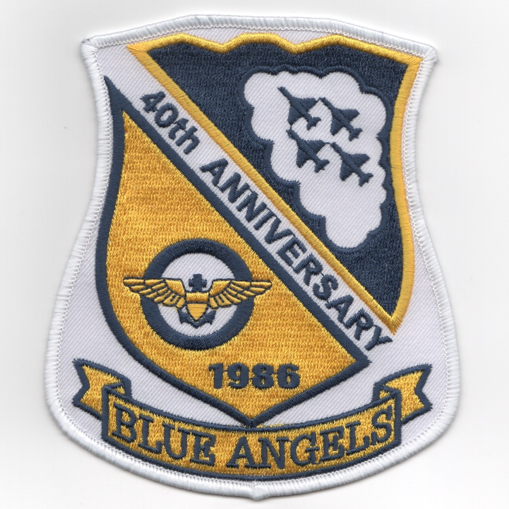 Blue Angels 40th Anniversary Shield