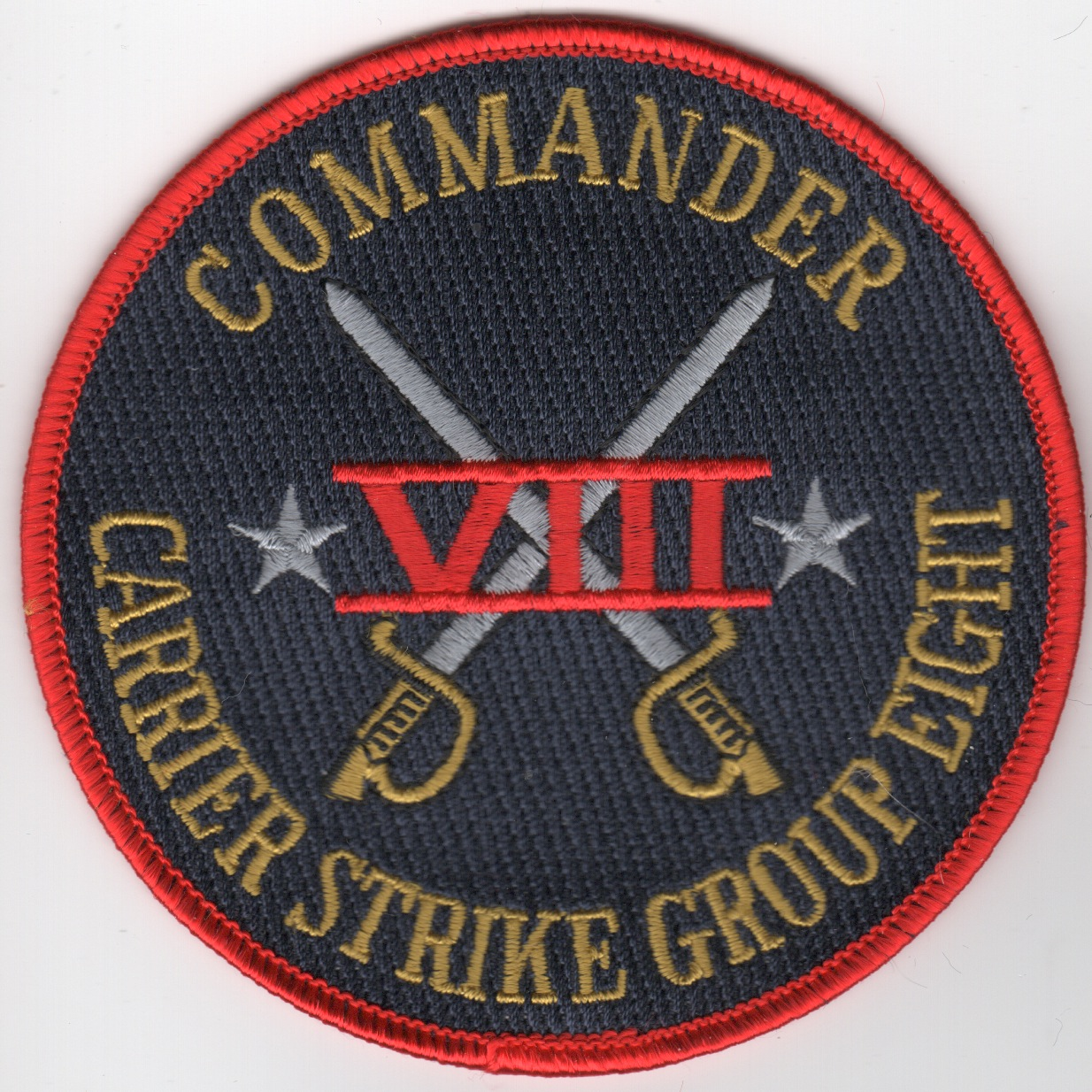 CDR, Carrier Strike Group-8 Patch (Red/Blk)