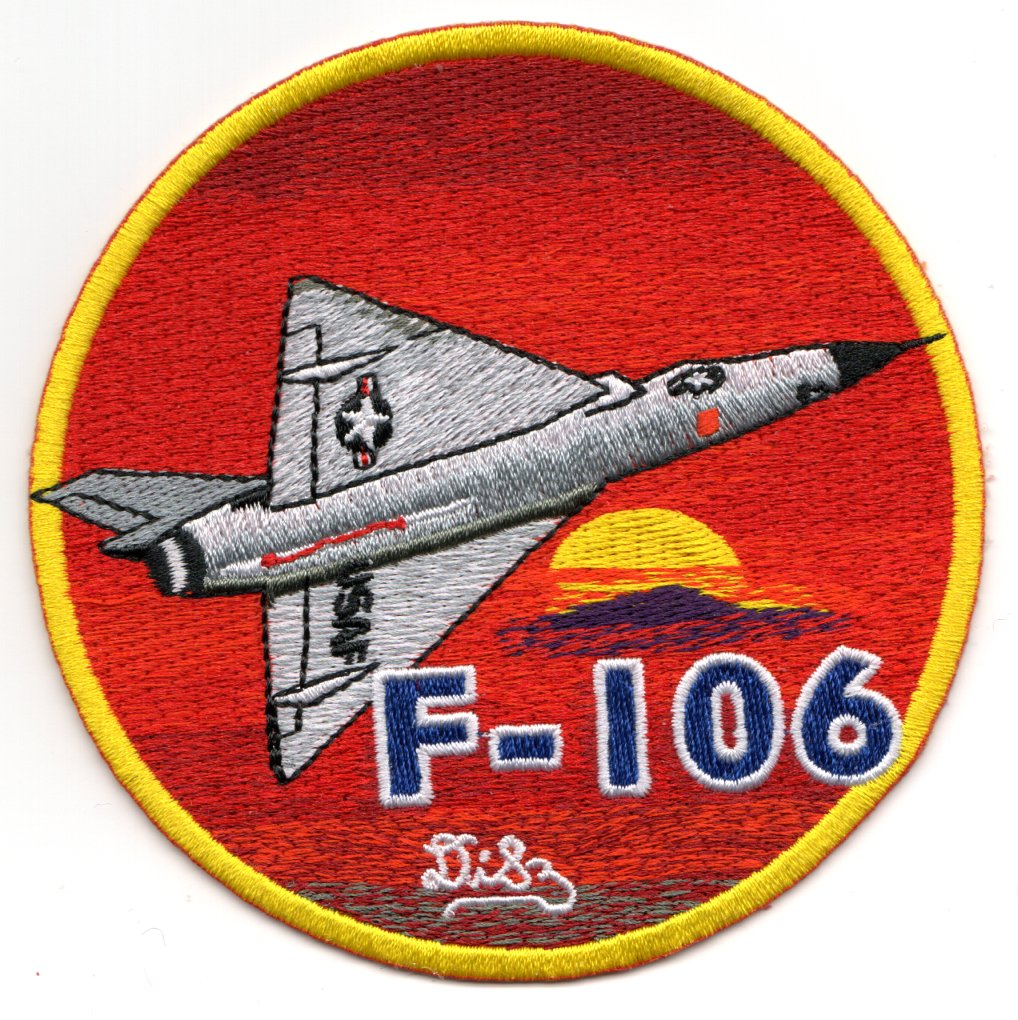 F-106 'Gray AC on Red Sun' (Med)