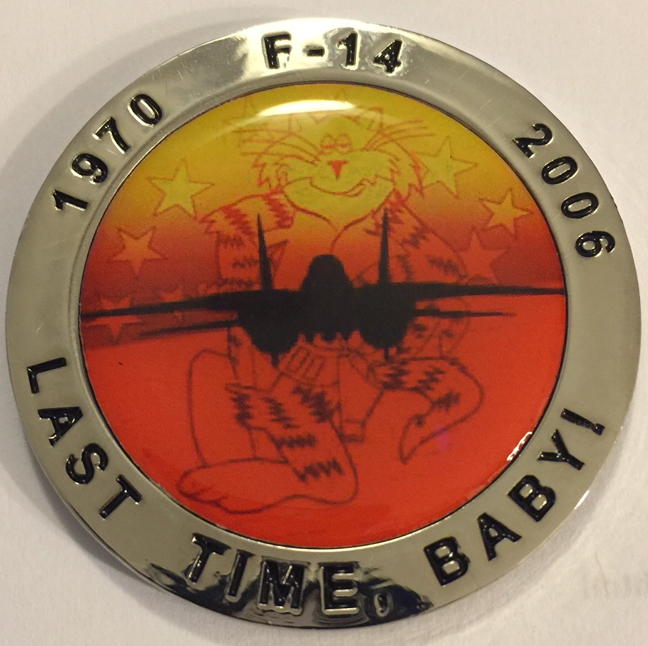 F-14 Tomcat Association 'Last Time, Baby' Coin (Back)