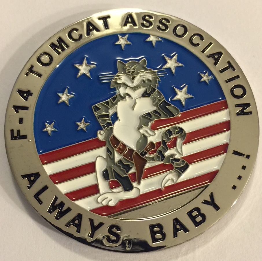 F-14 Tomcat Association 'Last Time, Baby' Coin (Front)