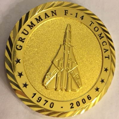 F-14 Tomcat Association 'Sunset' Coin (Back)