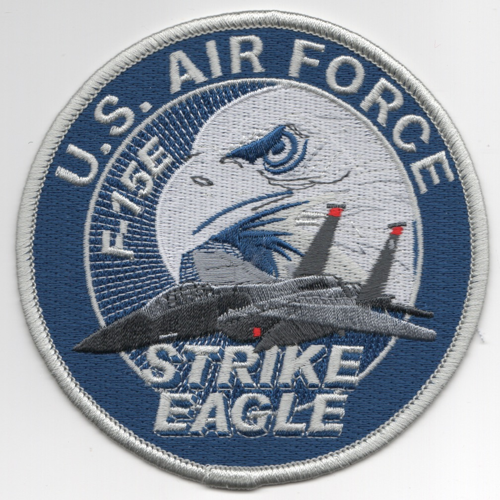 F-15E Blue/Silver Aircraft Patch