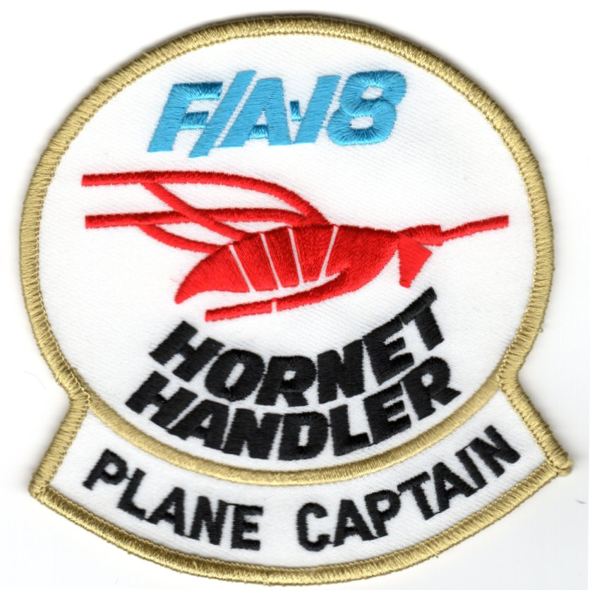 F/A-18E 'Plane Captain' Patch (White)