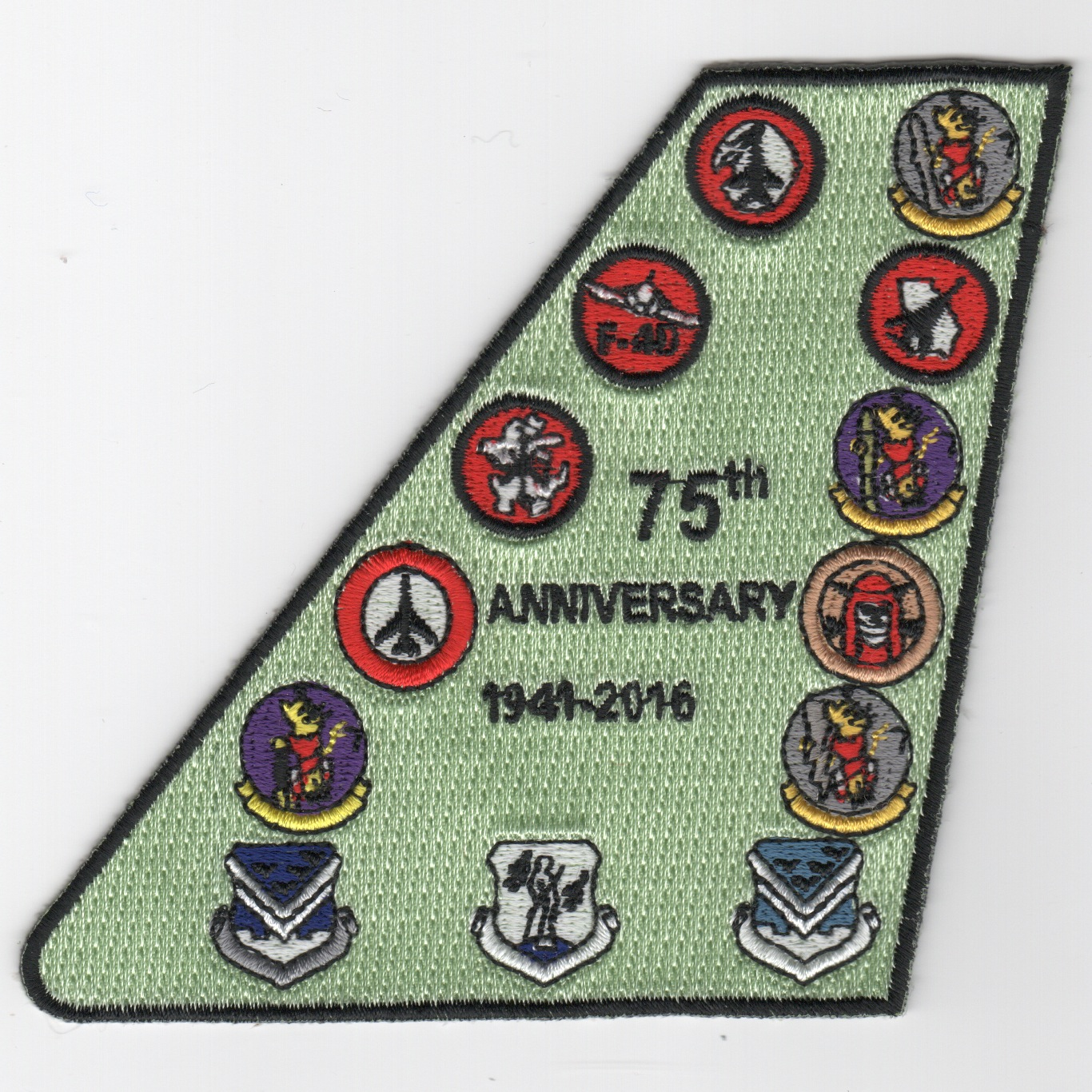 128 ACCS 75th Anniversary Tailfin Patch (Gaggle)
