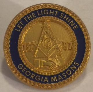GLofGA 1997 Masonic Pin