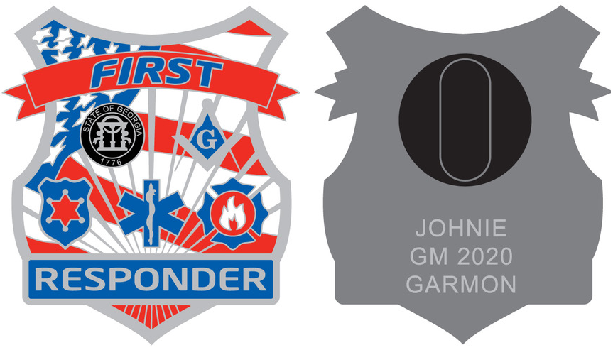 GM20 Johnie M. Garmon '1st Responder' Pin