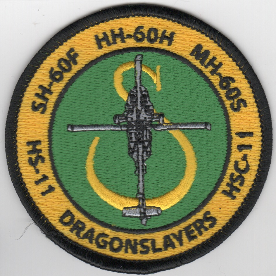 HS/HSC-11 Helo 'Bullet' Patch (Ylw/Grn)