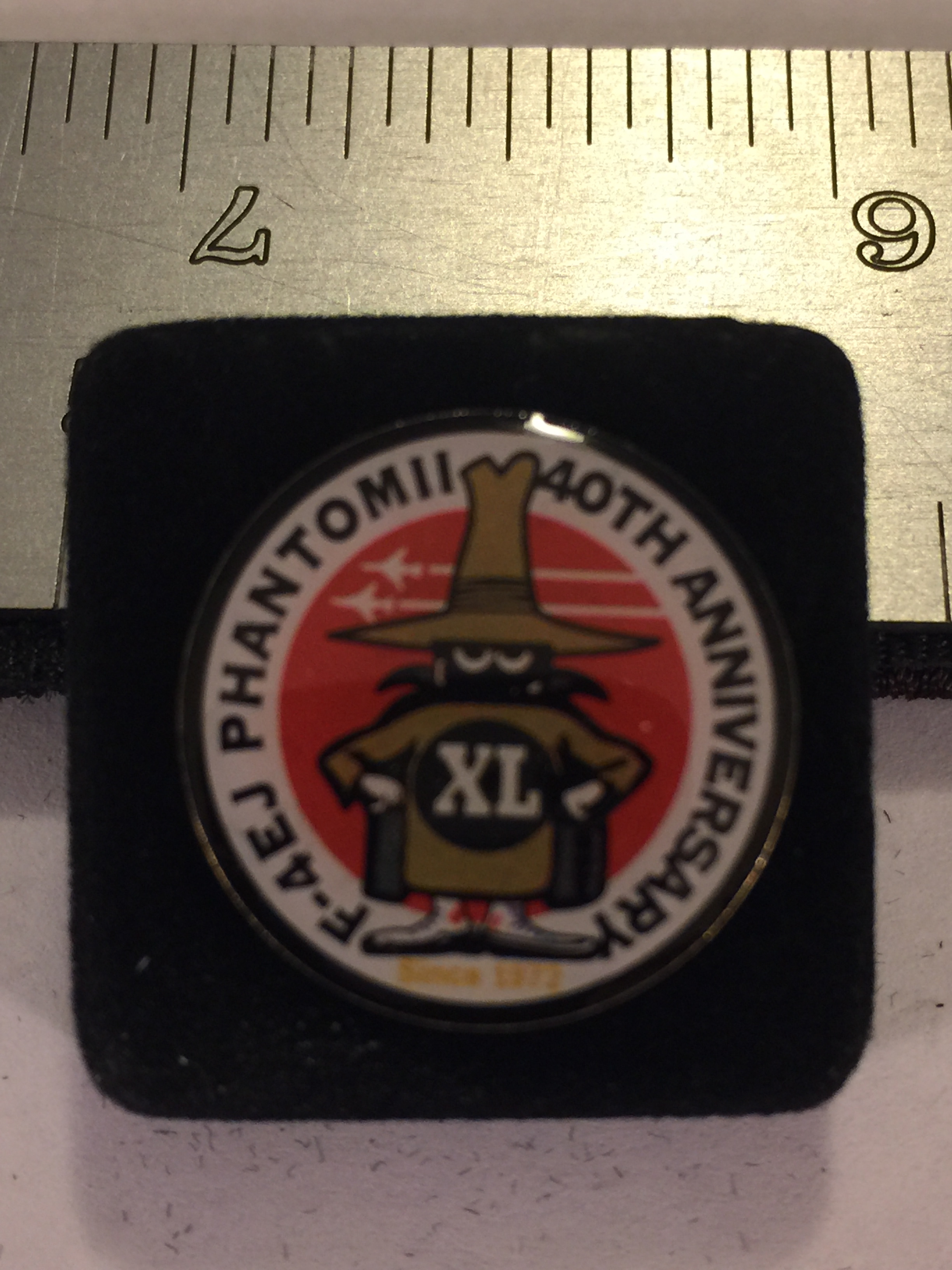 Lapel Pin: F-4 Phantom 40th Anniversary