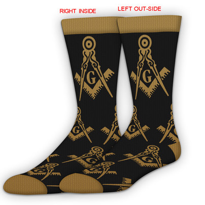 Masonic Dress Socks (Black/Gold)