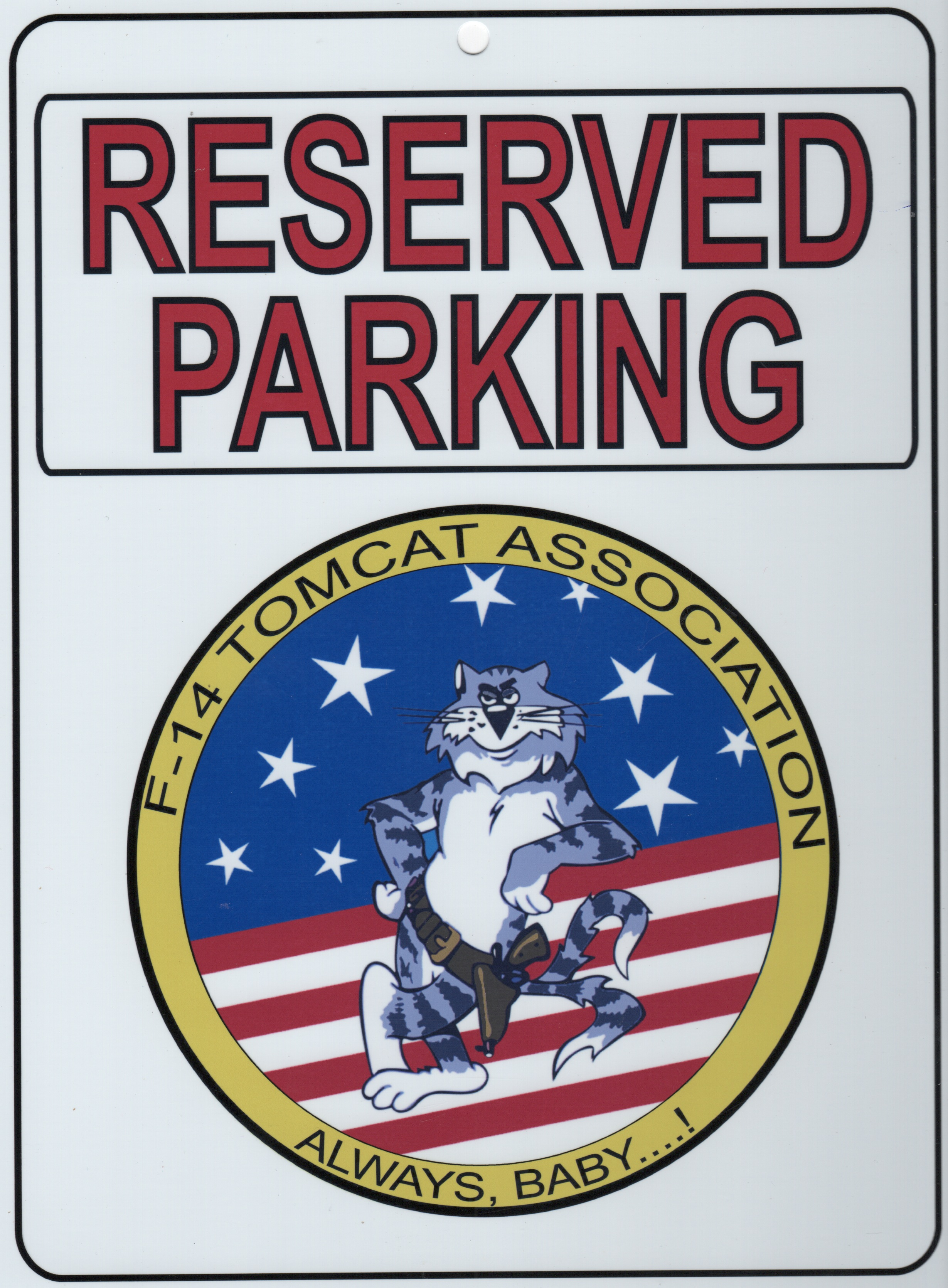 Tomcat Assoc 'Parking Placard'