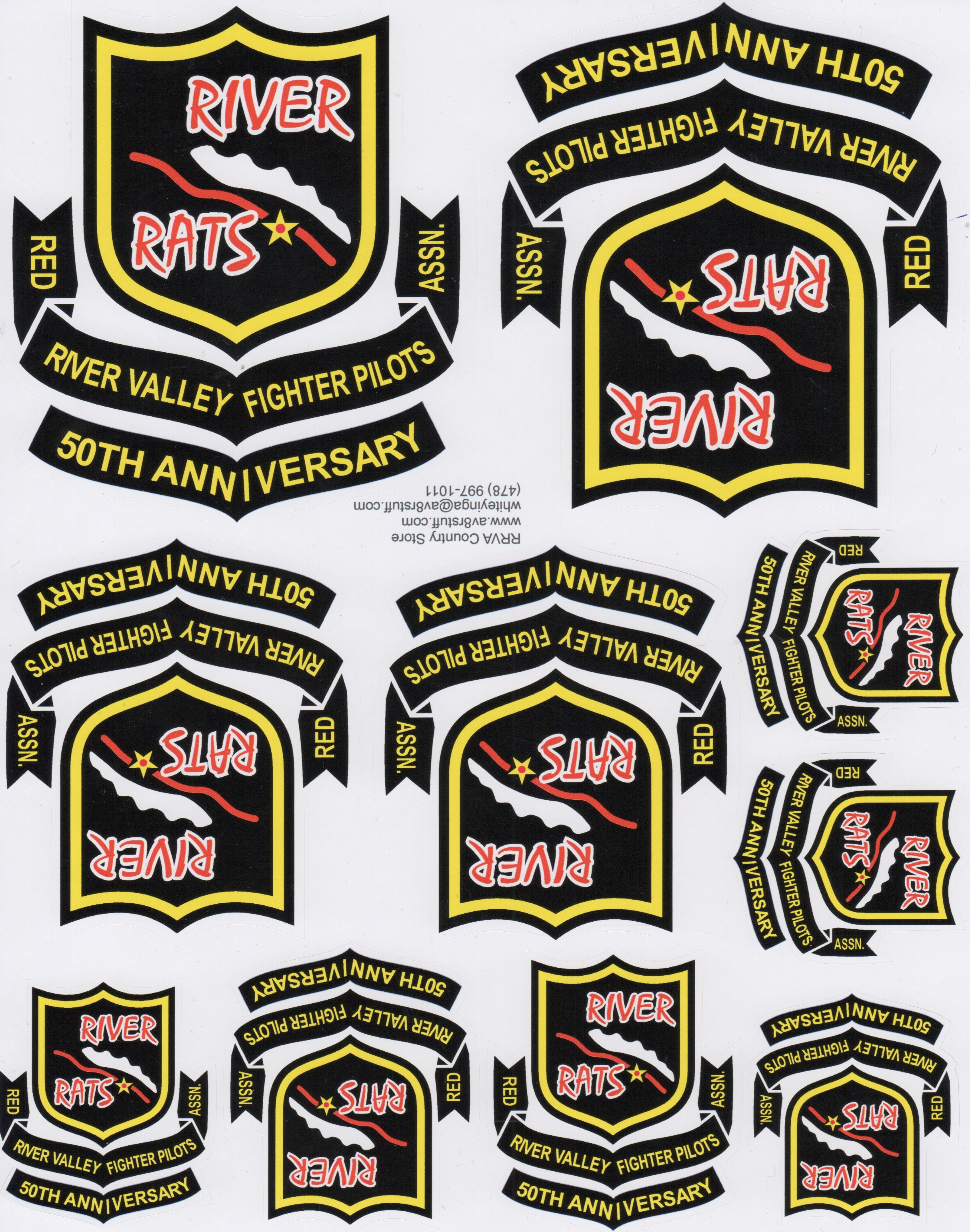 RRVA 50th Anniv 'Sheet of 10 Zaps'