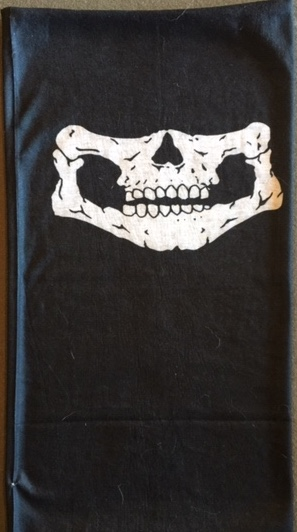 SKull-Face SCARF (Black)