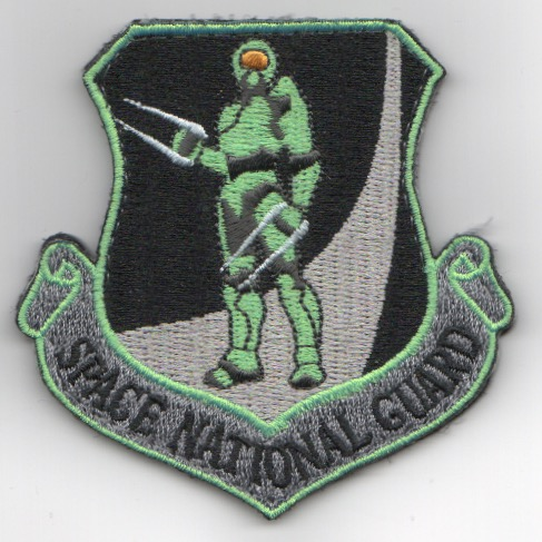 SPACE NATIONAL GUARD Crest (Neon)