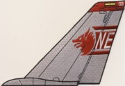 VF-1 F-14 Tomcat Tail Fin (Red/Gray)