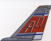 VF-101 F-14 Tomcat Tail Fin (Red/Gray/'AD')