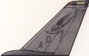 VF-101 F-14 Tomcat Tail Fin (All Gray)