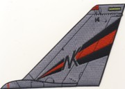 VF-154 F-14 Tomcat Tail Fin (Red/Black Stripes)