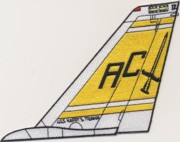 VF-32 F-14 Tomcat Tail Fin (Yellow)
