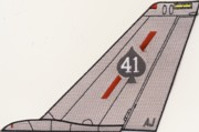 VF-41 F-14 Tomcat Tail Fin (ALL GRAY)