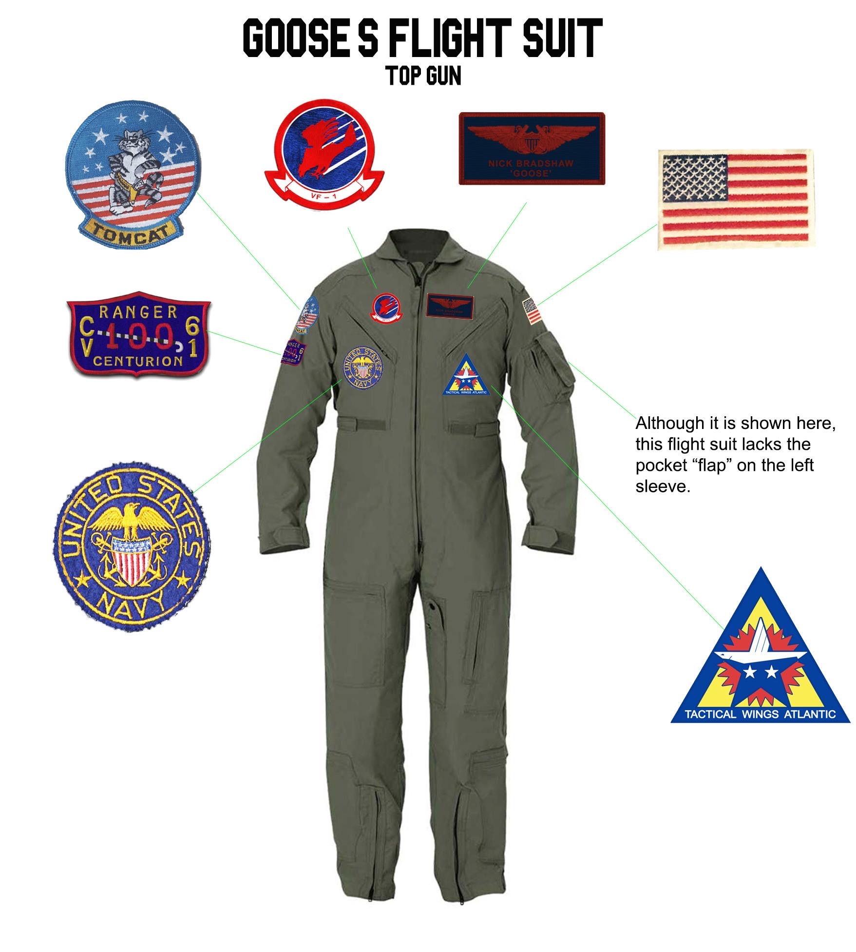 TOPGUN (1986): GOOSE's Flight Suit