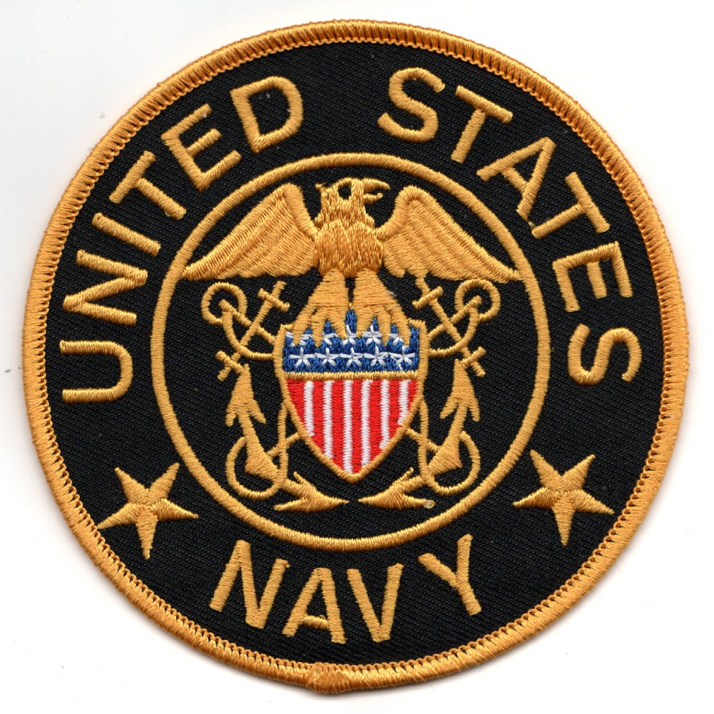 TG: US NAVY Patch (Black)