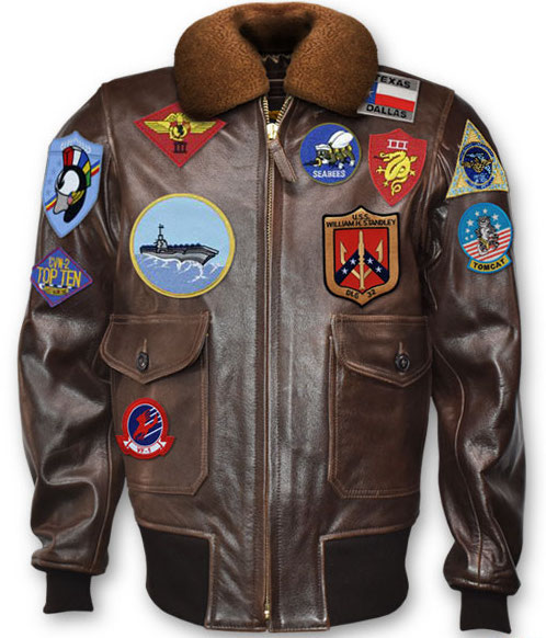 TOPGUN (1986): 'SIGNATURE SERIES' Leather Jacket (w/Patches)