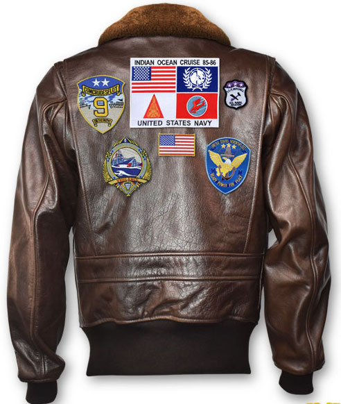 TOPGUN (2020): 'SIGNATURE SERIES' Leather Jacket (w/Patches)