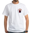T-SHIRT: 'WHITE' w/Front Left logo (4 in.)