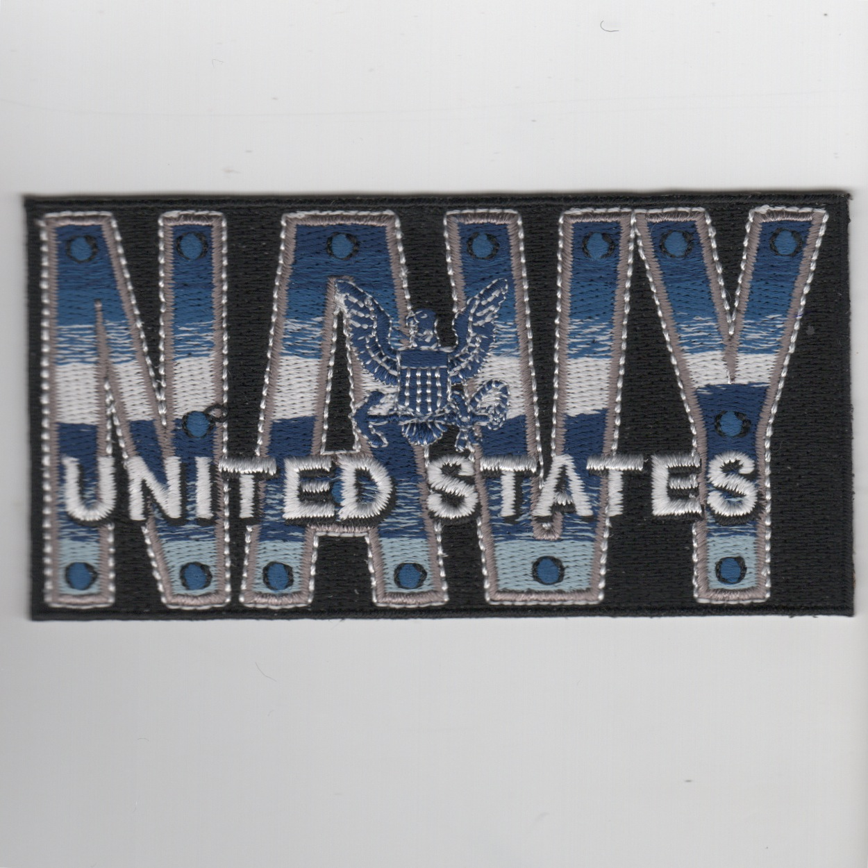 US NAVY (Rect/Black/Blue Letters)