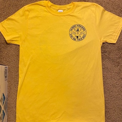 VA-75 'Ask Your Wife' T-shirt (Yellow/Front)