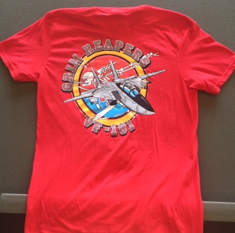 VF-101 Squadron T-shirt (Red/Back)