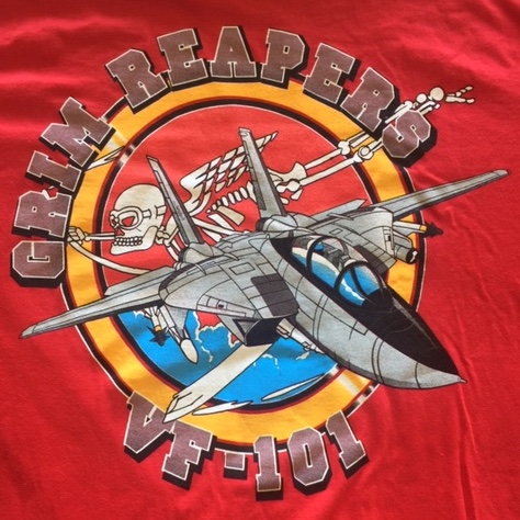 VF-101 Squadron T-shirt (Red/Back Logo)