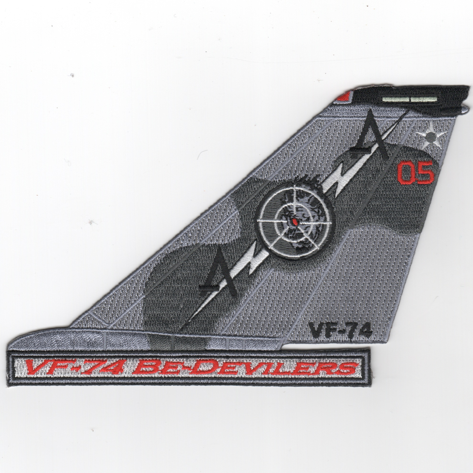 VF-74 F-14 Tomcat TailFin (Text/Gray/05)