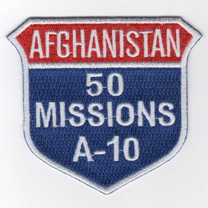 A-10 50 Missions (Afghanistan) Shield