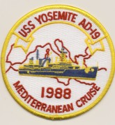 AD-19 USS Yosemite Med '88 Cruise Patch
