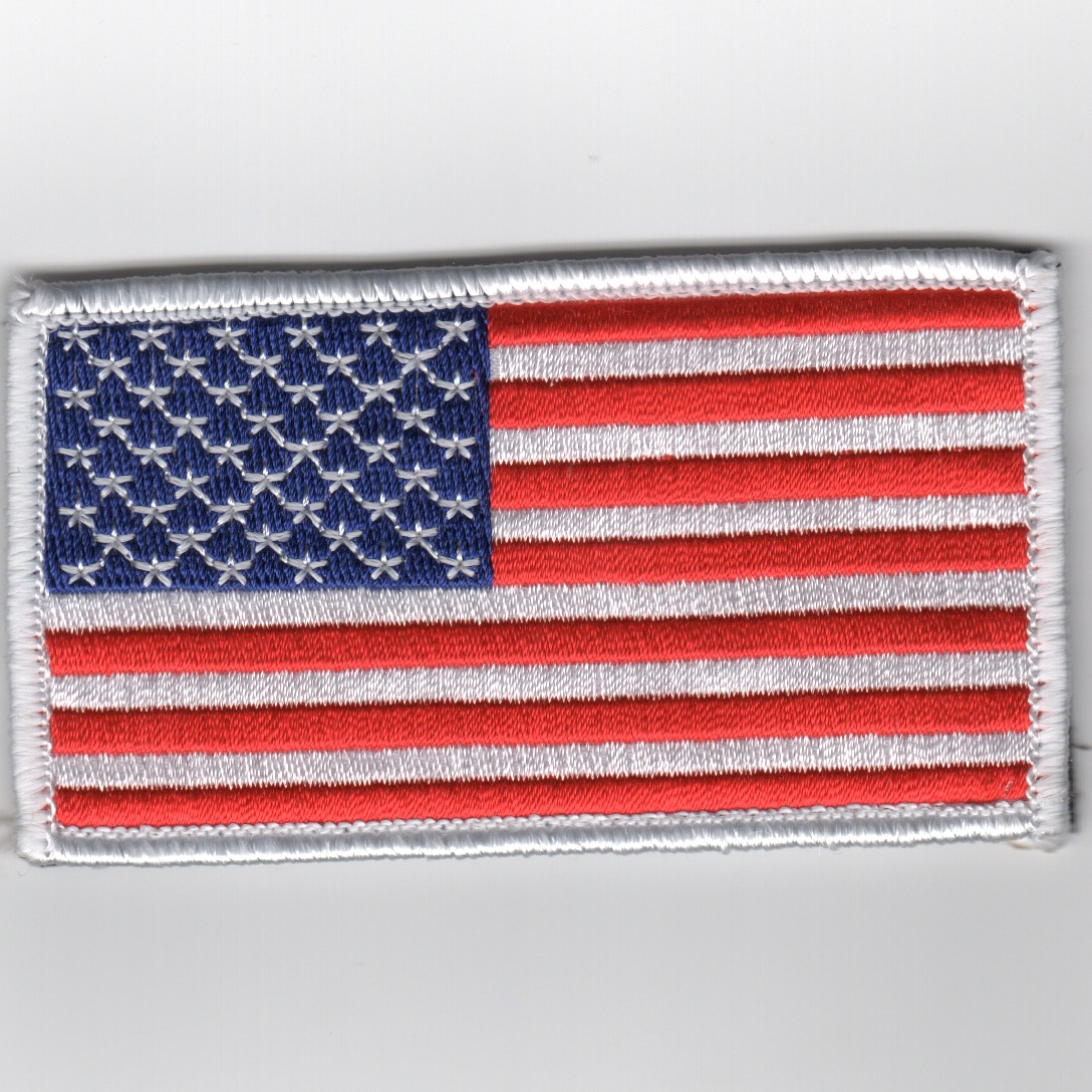 American Flag (White Border/No Velcro)