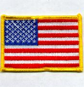 American Flag (Yellow/Large/No Velcro)