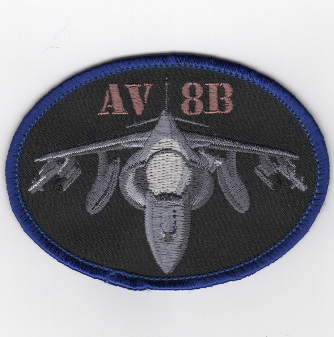 AV-8B Harrier Oval (Black)