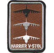 Harrier V/STOL A/C Patch (Rect/Des)