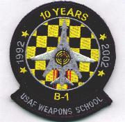 B-1B WIC 10th Anniversary Patch