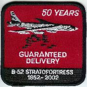 B-52 50th Anniversary Patch (Red)