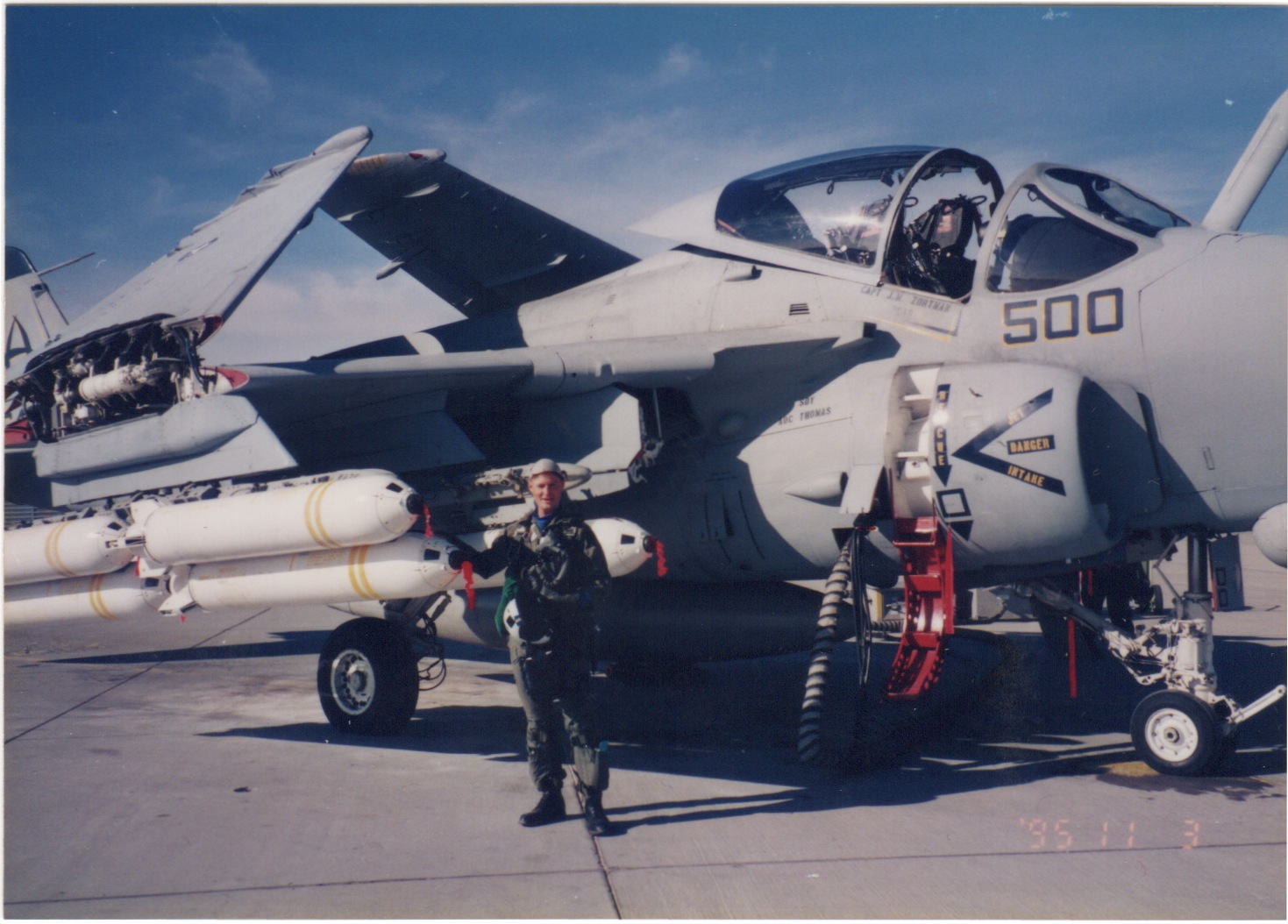Whitey in the A-6E Intruder