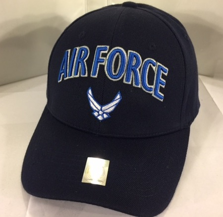 AIR FORCE (3-D Blue Letters/Logo on Front)