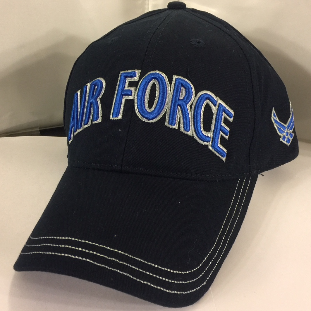 AIR FORCE (3-D Blue Letters/Logo on Side)