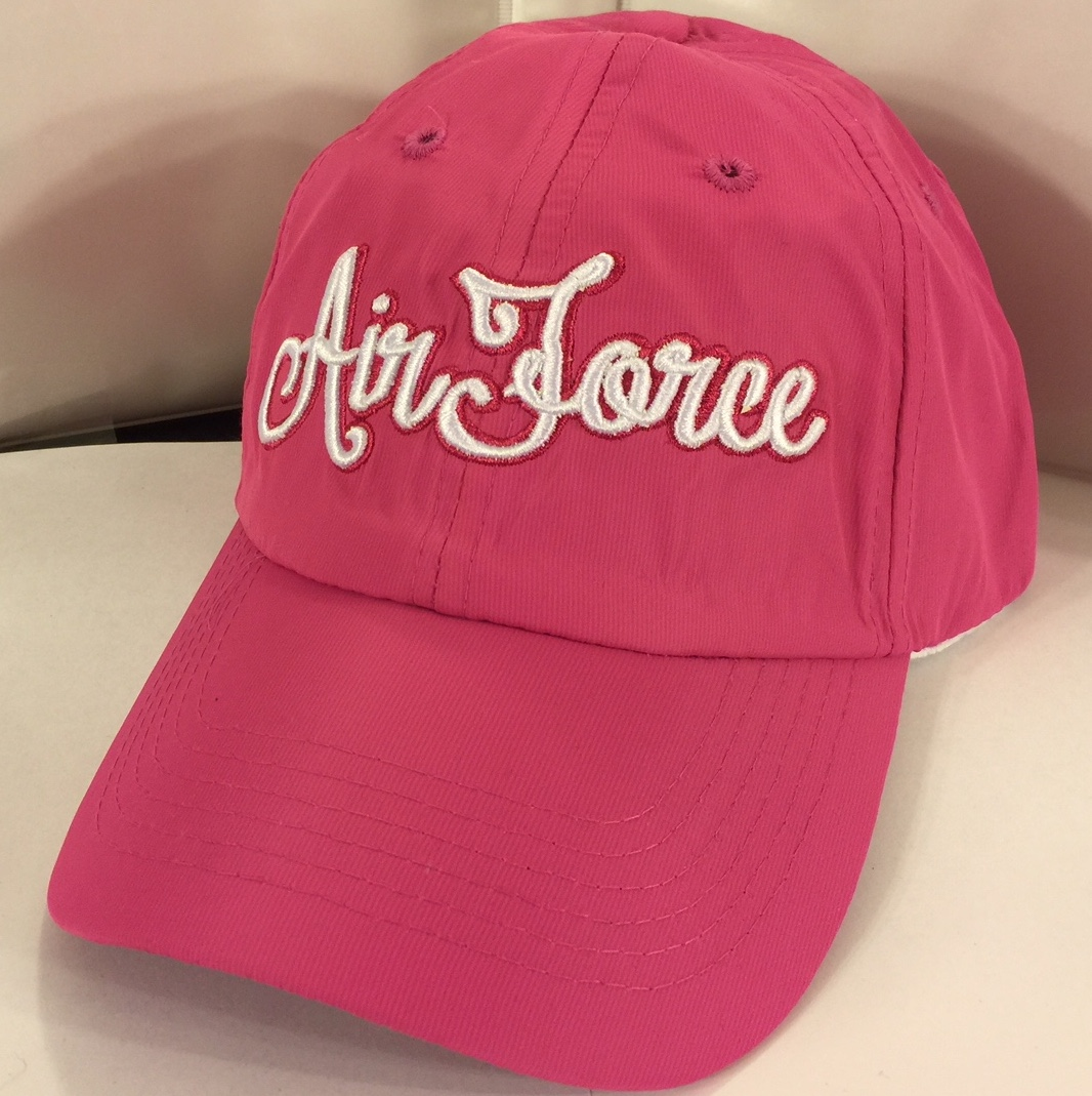 AIR FORCE (Pink/White Cursive Letters)