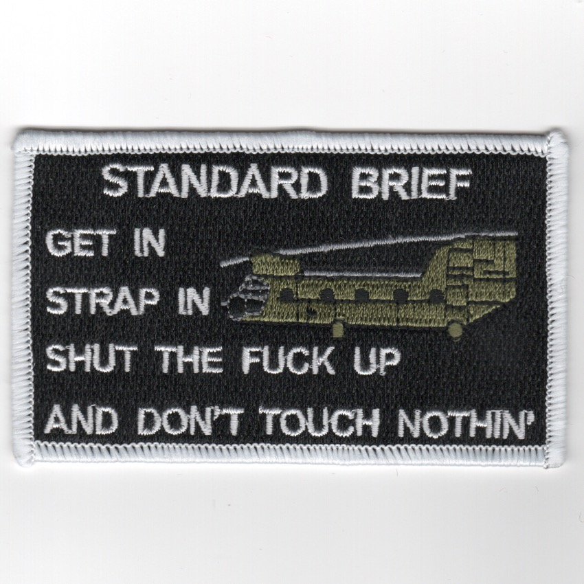 CH-47 'STRAP IN/STFU' Patch (Black/Rect)